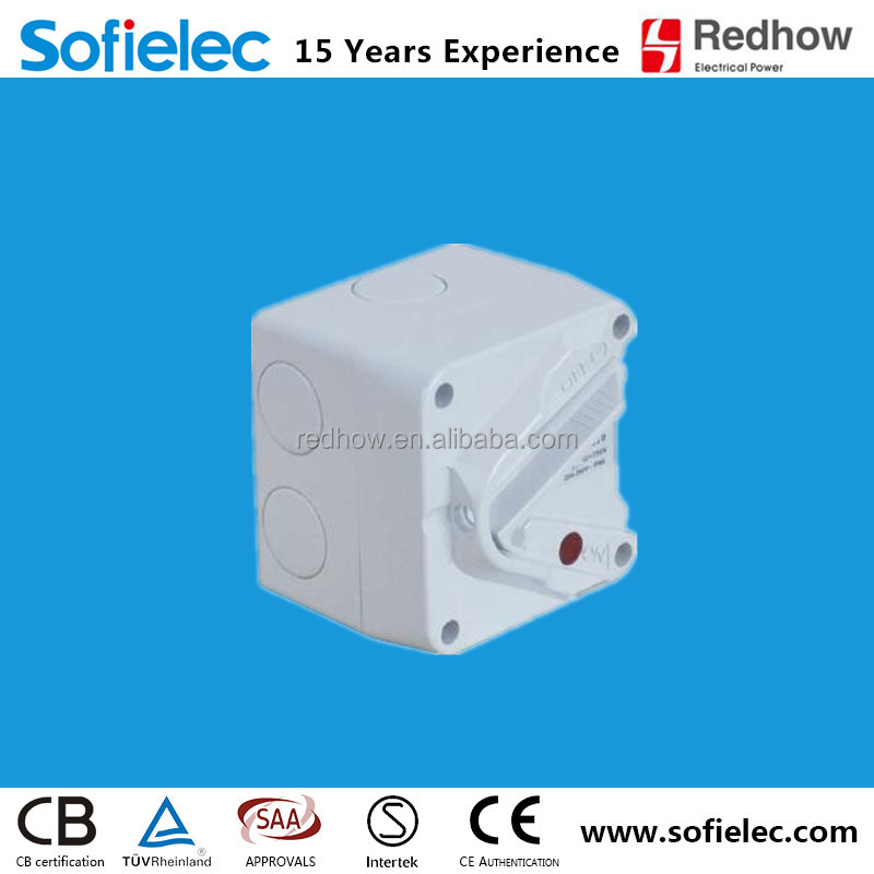 Outdoor 1Pole 10A mini weatherproof isolator switches IP66