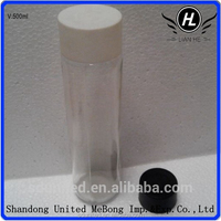 wholesale 500ml clear mineral water glass bottle with plastic cap