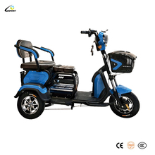 China cheap bajaj rickshaw assisted elder handicapped e-tuk disabled pedal 3 wheel tricycle 1 two seats adult electric tricycle