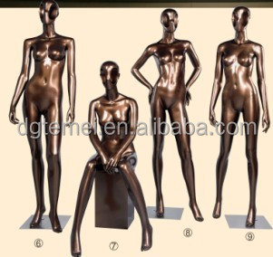 2014 top sale Fiberglass fashion store full body sitting female mannequins