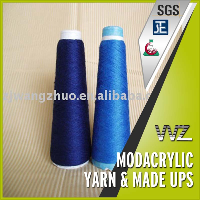 Blue flame retardant modacrylic yarn for weaving Fire resistant yarn Dark blue and light blue