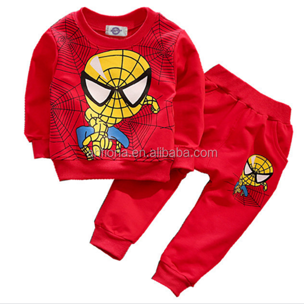 F10167D Latest autumn design boys long sleeve shirt and pants suits hot sale track suits
