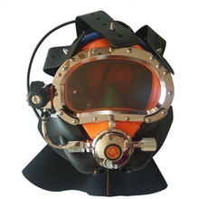 Modern underwater commercial diving helmet equipment