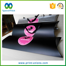 Custom full color printing large pillow boxes with logo
