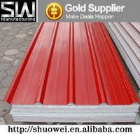 Hebei Shuowei Metal Insulated EPS Sandwich Panel For Construction