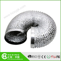 A/C Systems Flexible Aluminum Exhaust Ducts Air Ducting Vents Insulated hydroponic aluminum ducting