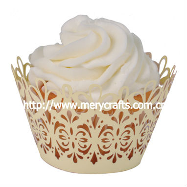 "2013 hot from Mery Crafts! laser cut ""lavish filigree"" cupcake wrapper"
