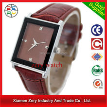 R0169 PayPal payment accept leather watch ,leather strap nickel free watch quartz