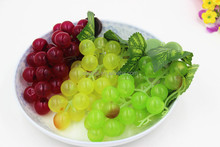 Bunches artificial grapes plastic fake fruit food home decoration/Yiwu sanqi craft factory