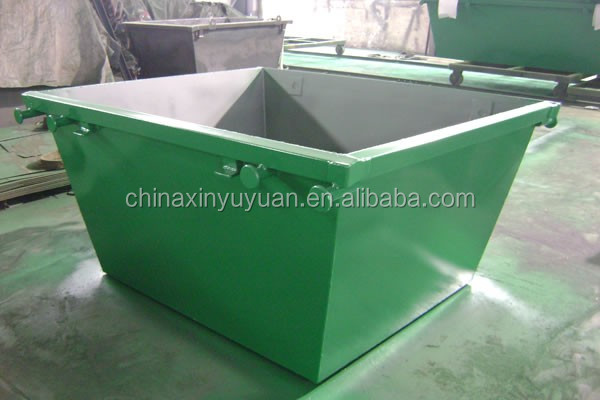 Heavy duty waste management skip lifting bin with steel material for storing scrap in industrial