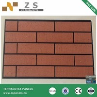 Natural stone building cladding system red quarry tiles