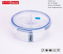 Microwave safe pyrex divider glass food storage box with locking lid
