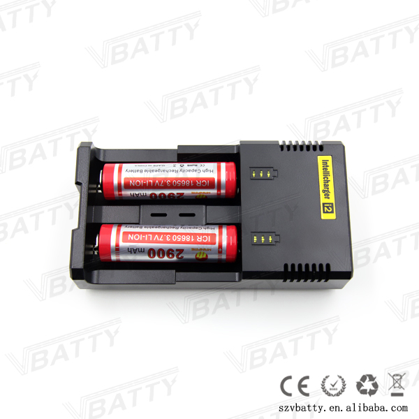 18650 battery charger i2 charger dual port usb i2 charger for e-cigarette battery