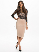 2016 latest dress designs fashion office wear women office pencil dress