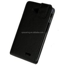 PU flip leather case pouch bag for LG optimus L70