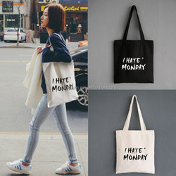 Blank Cotton Tote Bags,Rope Handle Style and Cotton Material blank cotton tote bags