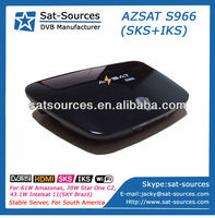 AZSAT S966 South America 2014 Hot Sale SKS and IKS Receiver,Server is more stable than Tocomsat