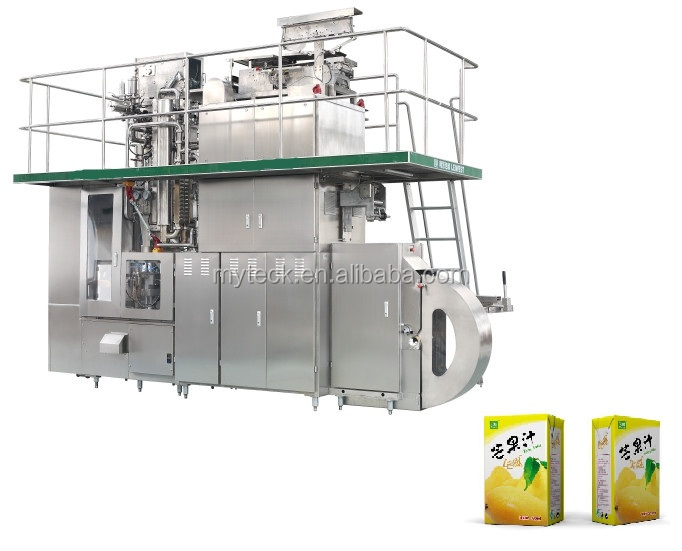 Aseptic brick carton filling line with straw applicator price