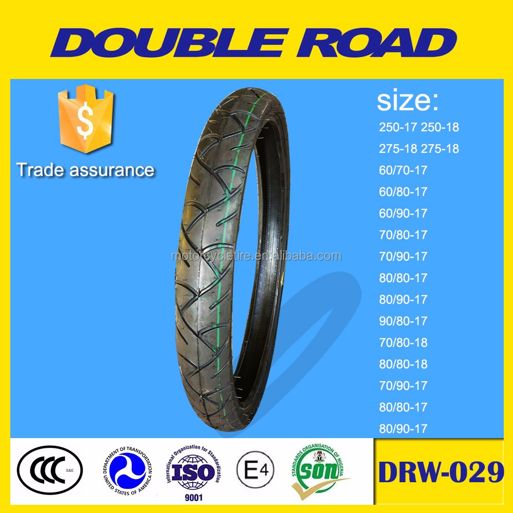 Manufacturer direct used rubber motorcycle tire 90/80-17 for sale