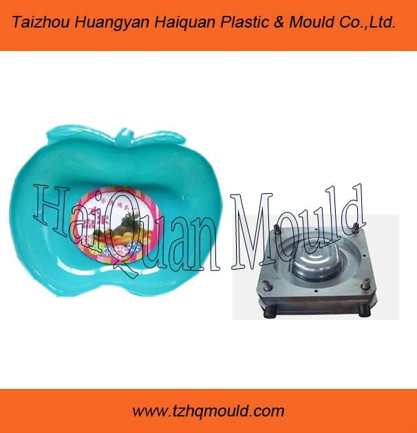 portable salable apple shape fruit plate mould,plastic mould