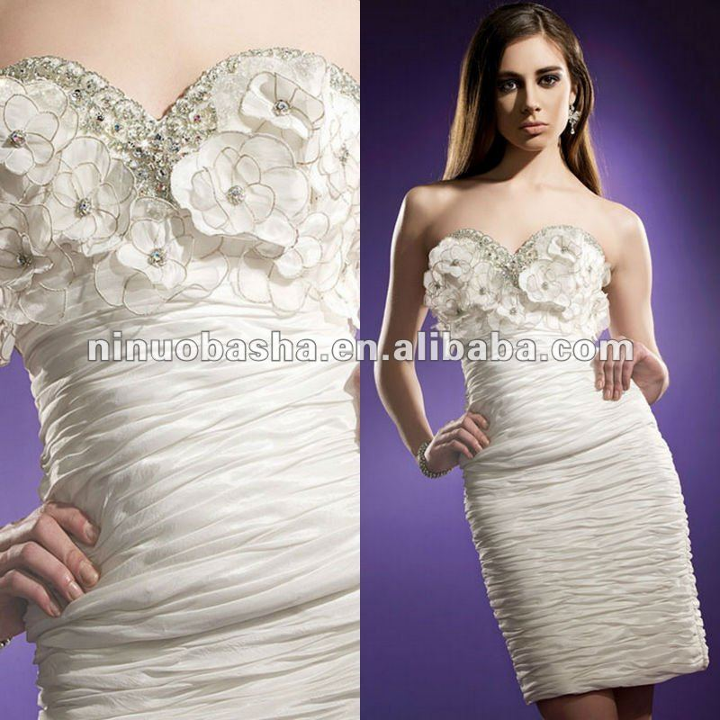 Slimming ruched bodice sweetheart evening dress