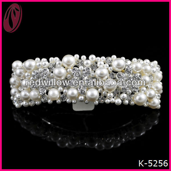 Indian Bridal Hair Accessories Noble Pearl Hair Clip for Weddings