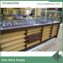 wooden jewellery furniture counter for jewelry shop interior design