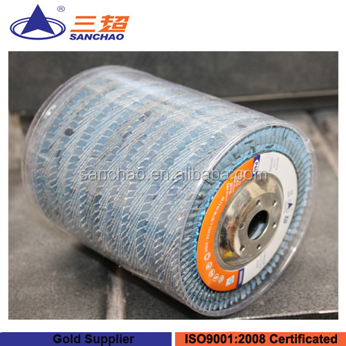 Plastic Packing / Zirconia Flap Disc, Abrasive Polishing Disc for SS