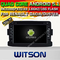 WITSON Android 5.1 CAR DVD For RENAULT Dacia WITH CHIPSET 1080P 16G ROM WIFI 3G INTERNET DVR SUPPORT