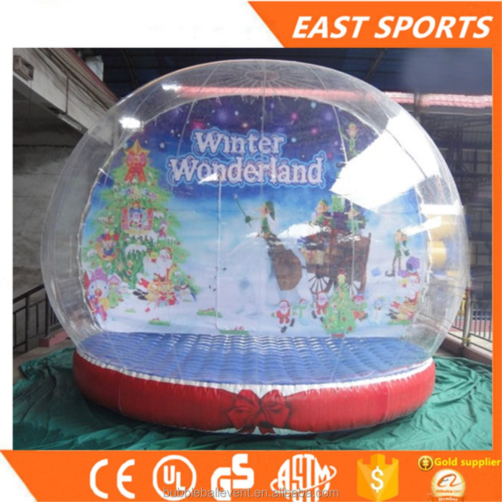 Xmas decoration inflate snow ball, Inflatable advertising ball,snow globe wholesale