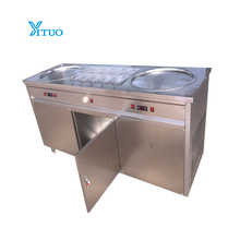 Double pan 500mm hot sale thailand rolls fried ice cream machine