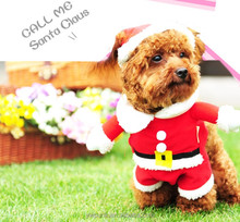 Dog santa coat pet clothes christmas apparel Fashion dog christmas clothes pet apparel Christmas item