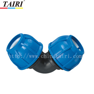 Compression coupling female elbow 90 degree pipe fitting tube fitting