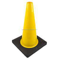 Flexible Roadwork/Worksite safety PVC traffic Cone with reflective band on hot sale