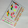 colorful fluorescence body temporary tattoo sticker