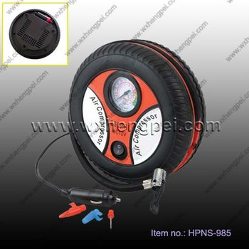 12V air compressor in tyre shape for car