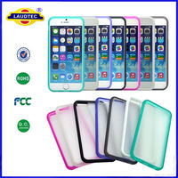 tpu+pc frosted back cover case for iphone 6 and iphone 6 plus laudtec