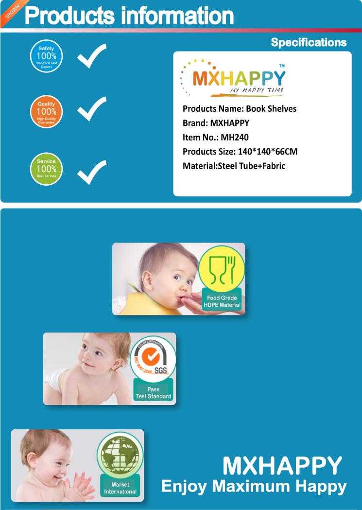 MH240 Bedside Folding Crib - Folding Baby Playpen - Kids 8 Panel Activity Centre Safety Play Yard Portable Playard