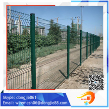 trade assurance well designed light weight dark green fence curved fence