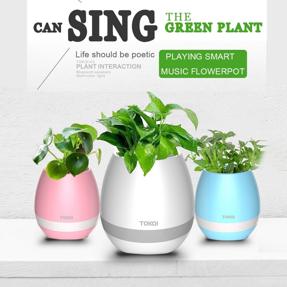 China manufacturer 2017 new gift waterproof bluetooth speaker smart music flowerpot hydroponic garden pots for succulent plants
