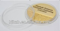 good quality 24K gold plating 3D coin with acrylic capsule