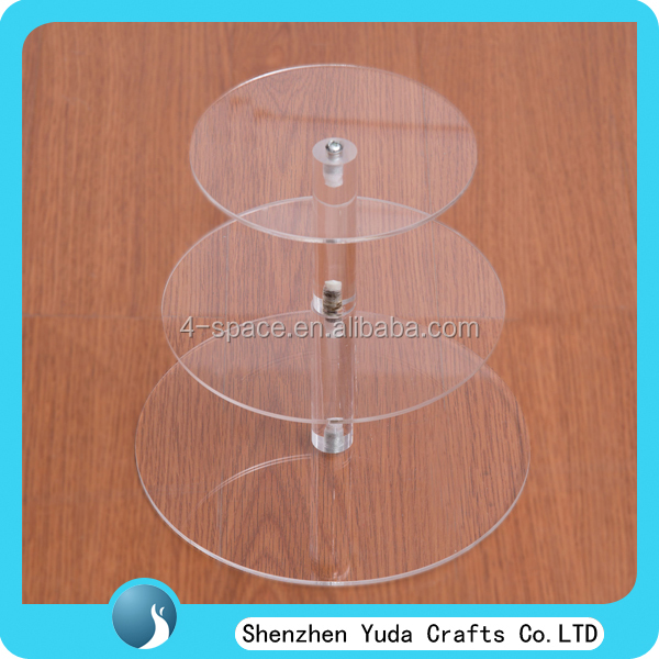 wholesale 3 tier circle cupcake party wedding cake stand, Pin Tier Clear Plastic acrylic Cupcake stand