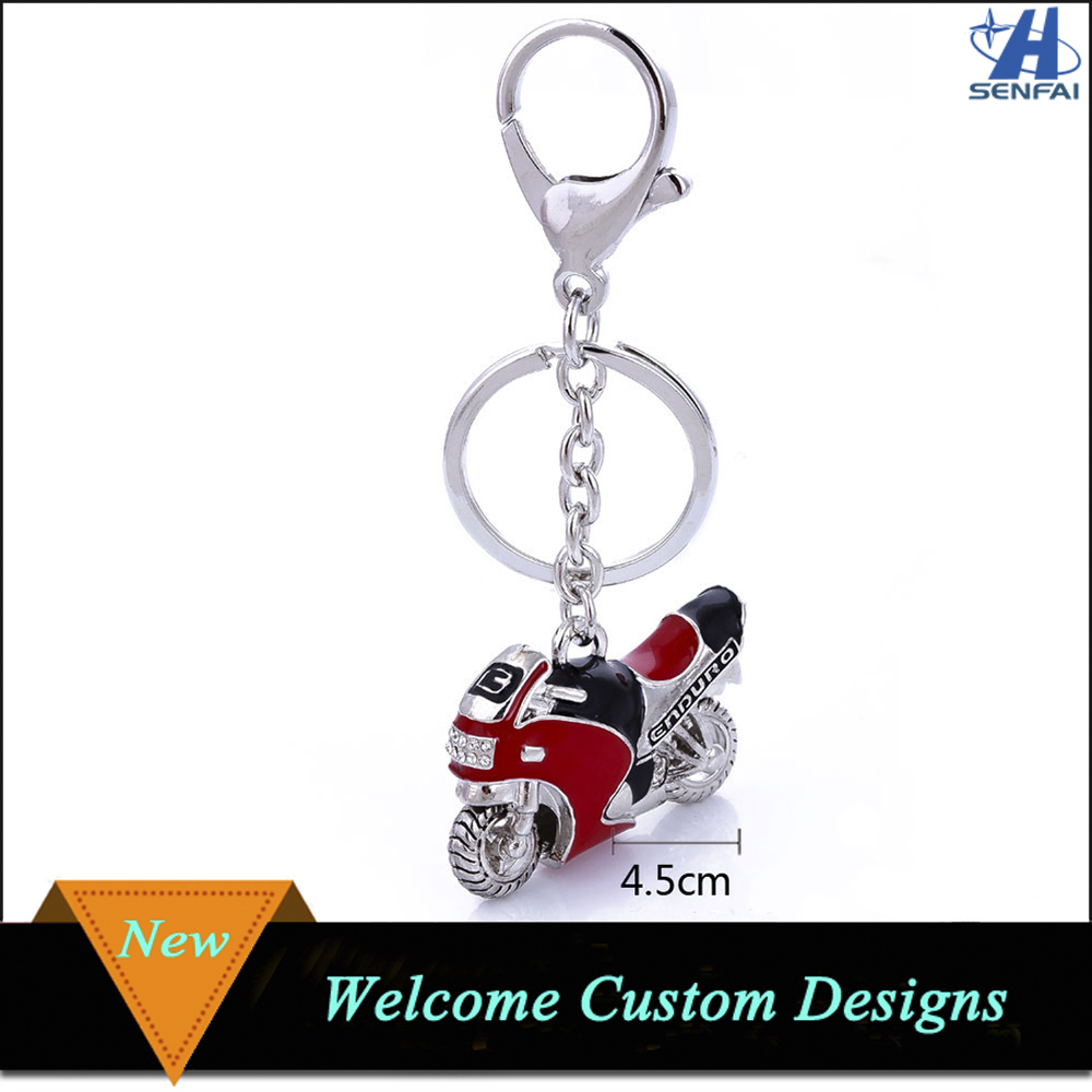 Cool Metal Motorcycle Keychain for Men Custom Motorcycle Keychain