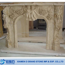 Cheap Limestone Travertine Fireplace Mantel French Classic Fireplace Mantels
