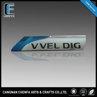 Custom high quality 3D ABS electroplated auto logo badge chrome car rear emblem