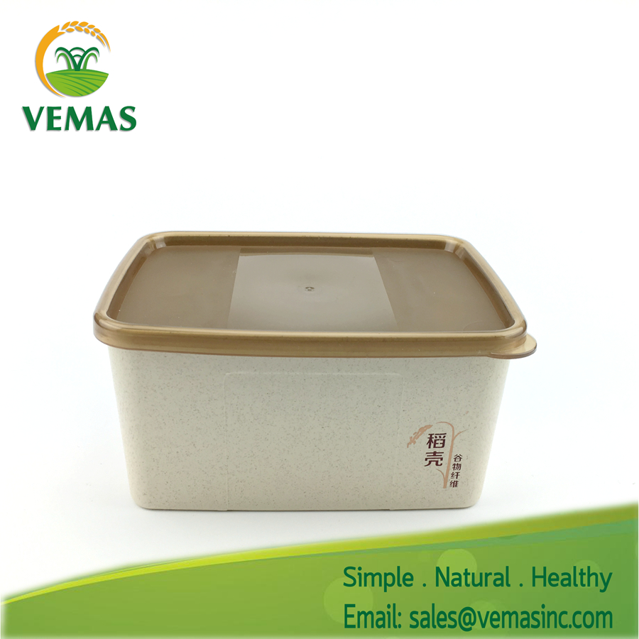 Hot sales Eco bamboo fiber plastic kids meal food container