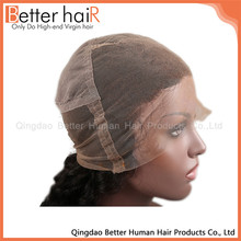 Hot Sale brown silk lace cap for wig making,silk base wig cap for body wave