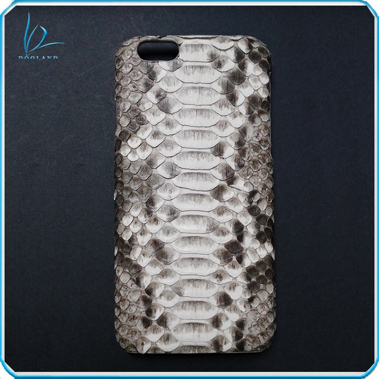 Luxury French technology tanned real exotic genuine python skin leather case for iphone 6 6 plus