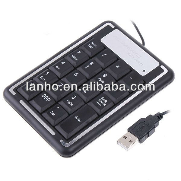 19 Keys Mini USB Numeric Number Keyboard Keypad for Laptap