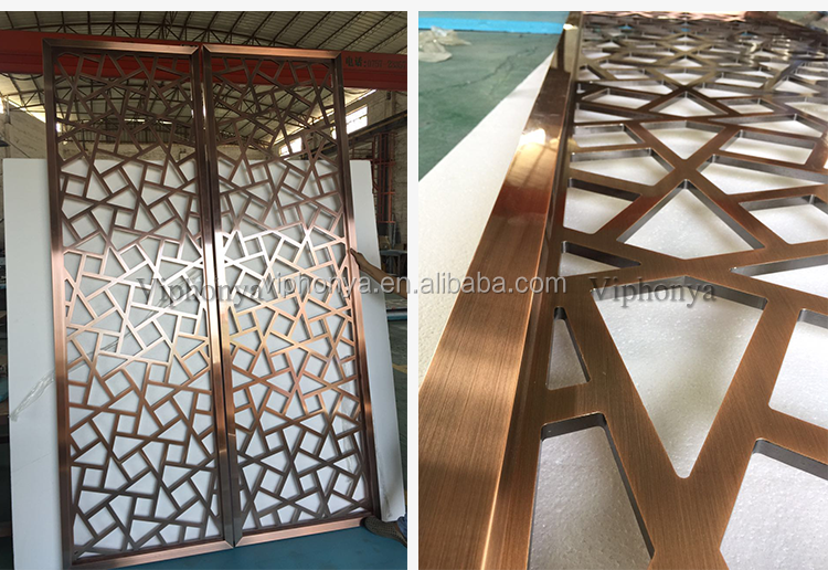 Conference malaysia laser cut outdoor metal screen room divider aluminum partition wall